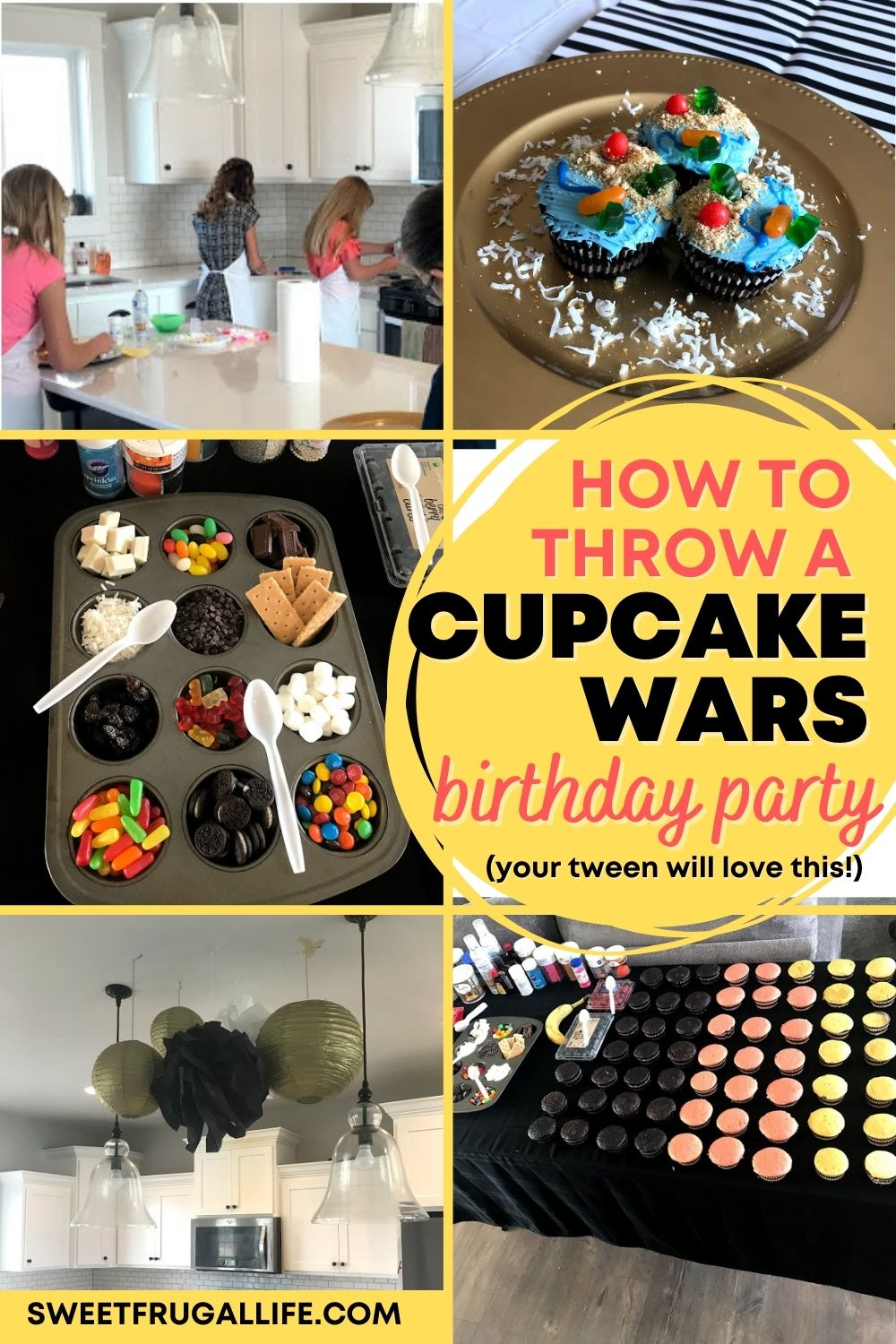 cupcake wars birthday party ideas - tween birthday party ideas