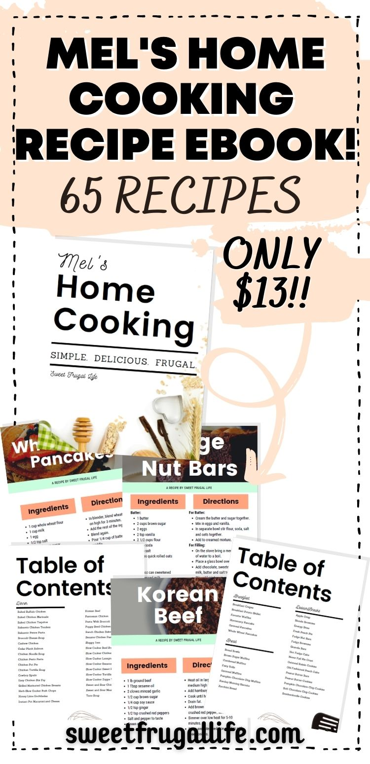 mel's home cooking recipe ebook - ecookbook