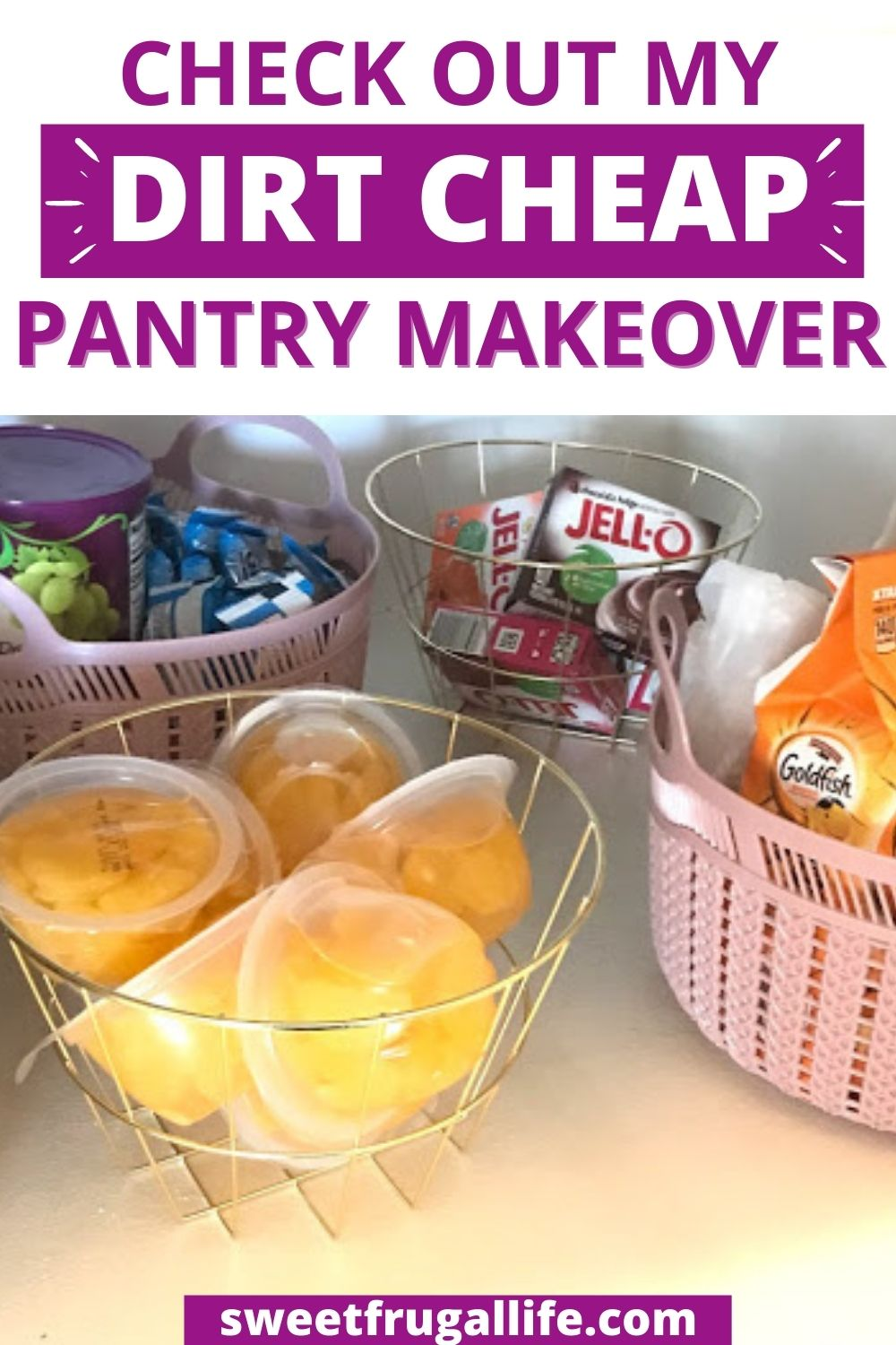 organize pantry on a budget - small pantry organization