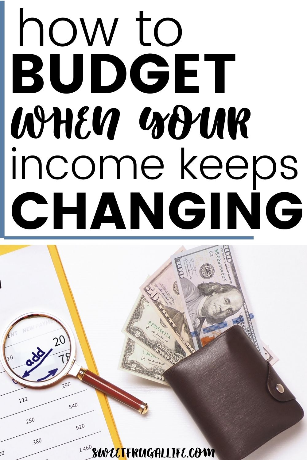 budgeting tips for irregular budgets - how to make a budget with variable income