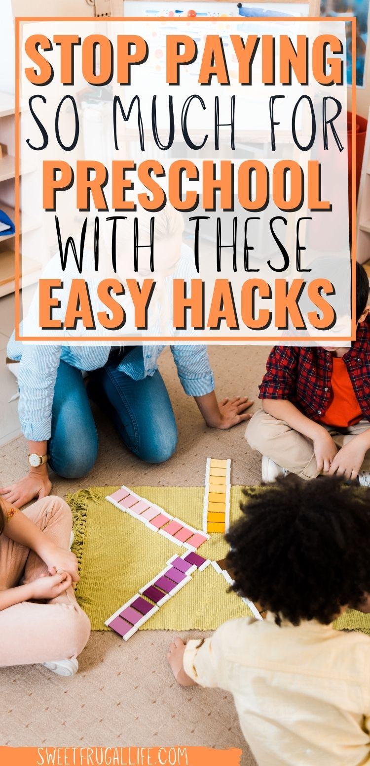 money saving tips for preschool - budget friendly preschool ideas