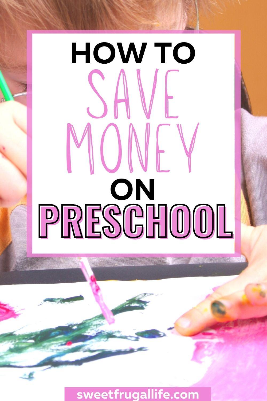 save money on preschool - money saving tips for moms