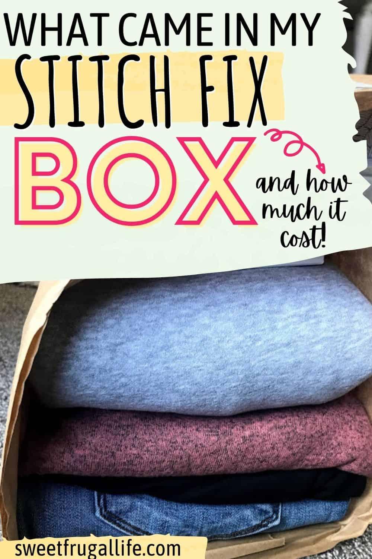 what comes in a stitch fix box - is stitch fix a good deal