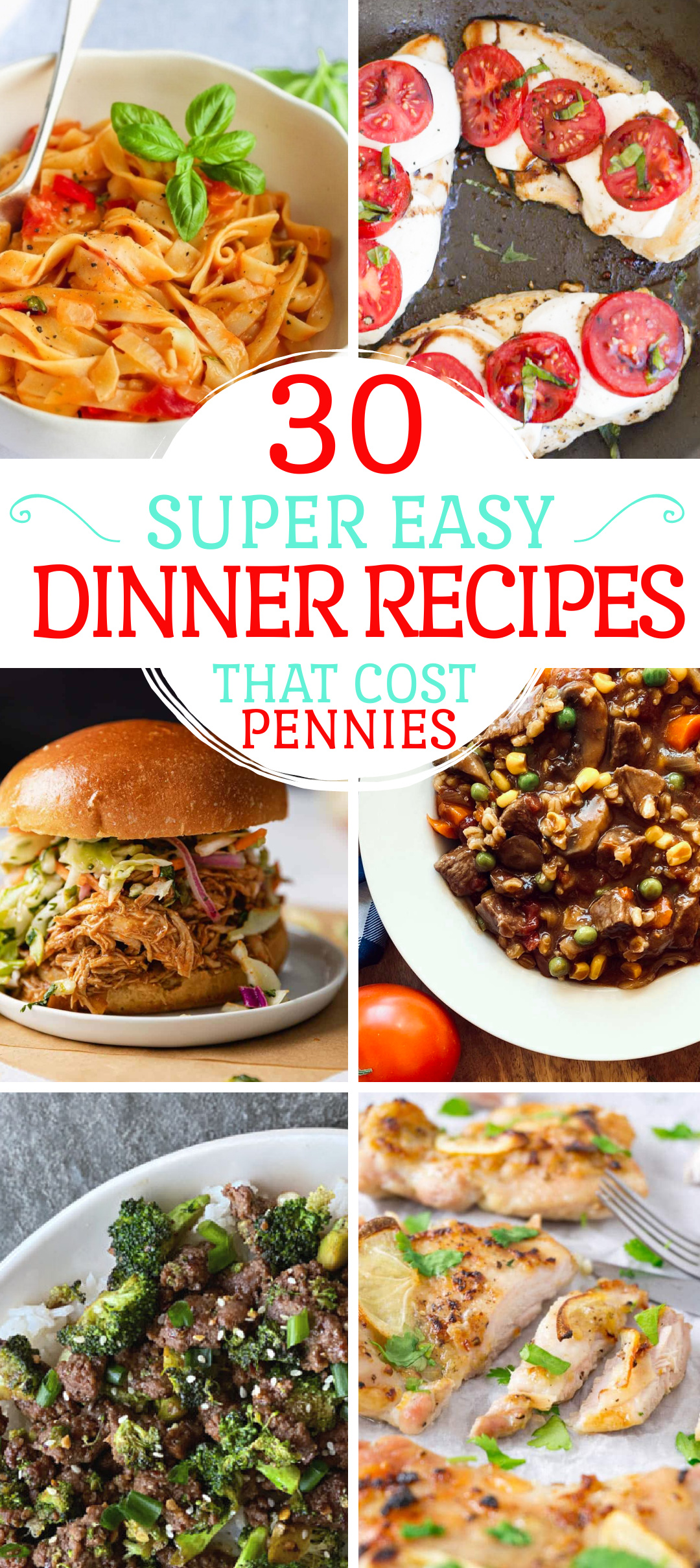 easy dinner recipes - cheap dinners for families