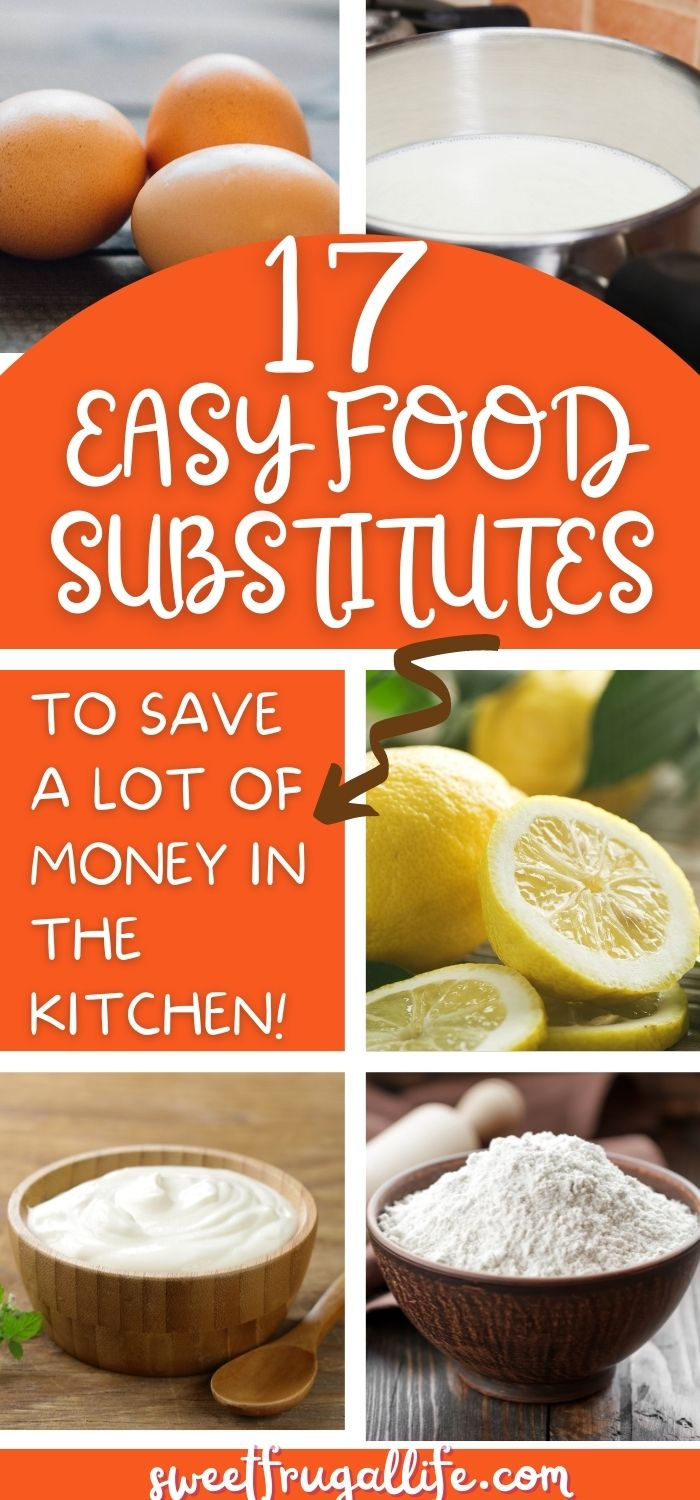 easy food substitutes - ingredients that can be substitutes in recipes